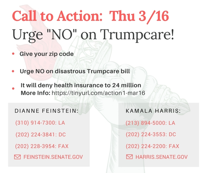 Vote NO on Trumpcare! Call your Senators!