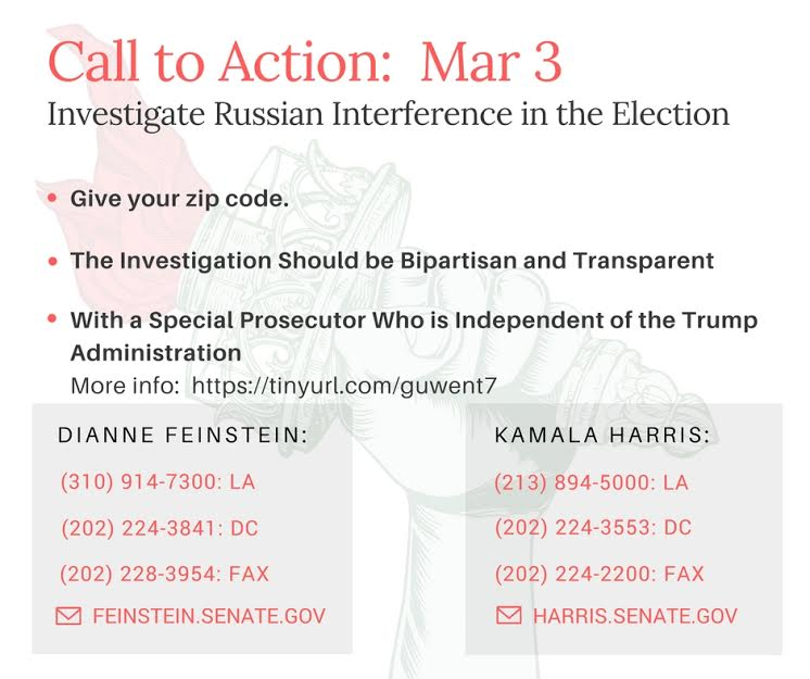 Investigate Russian Interference in the US Election