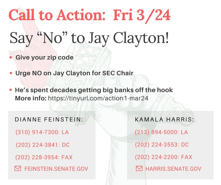NO on Jay Clayton for SEC Chair