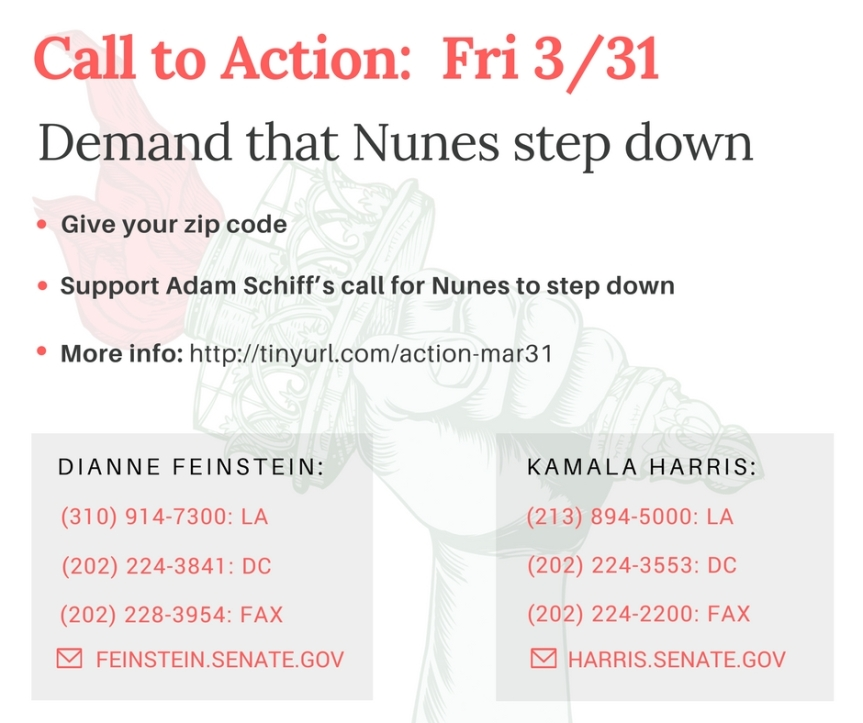 Support Adam Schiff's call for Nunes to step down!