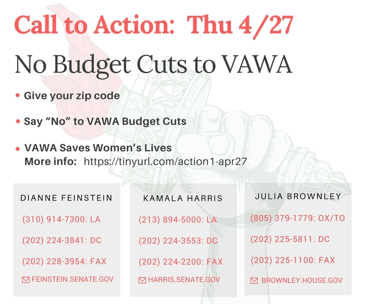 No Budget Cuts to VAWA
