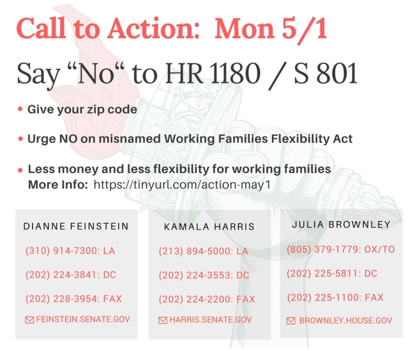 Vote No on the Working Families Flexibility Act – Don't be fooled by the doublespeak name!