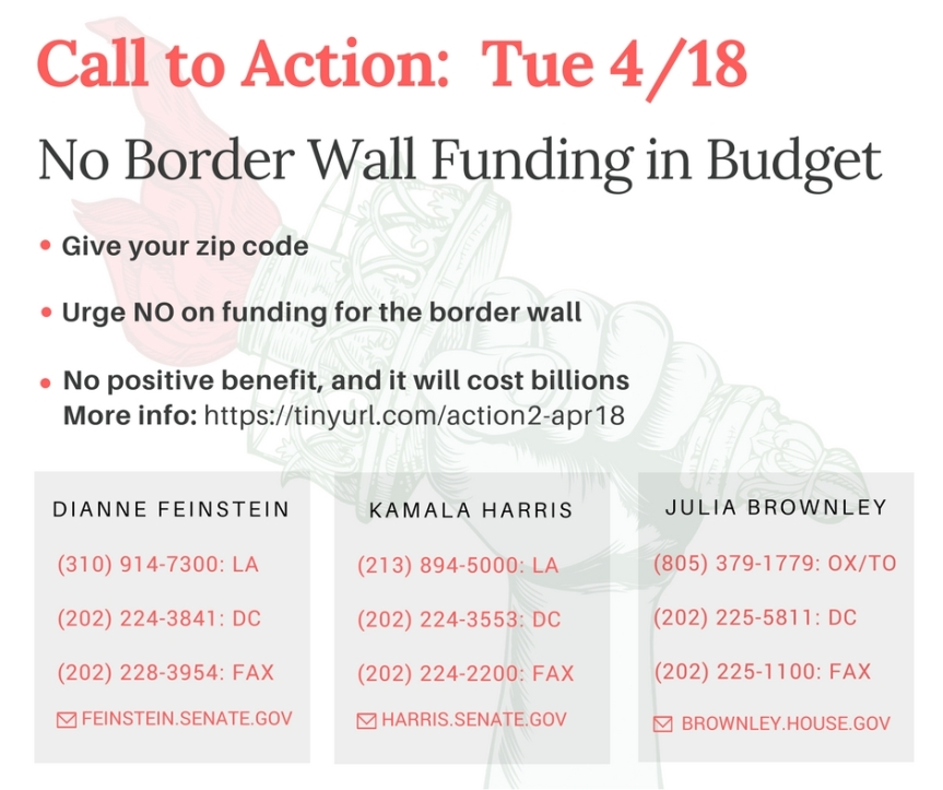 No Border Wall Funding in Federal Budget!