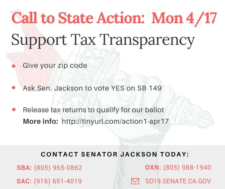 Support SB-149. Release Your Tax Returns or You're Not on the California Ballot.