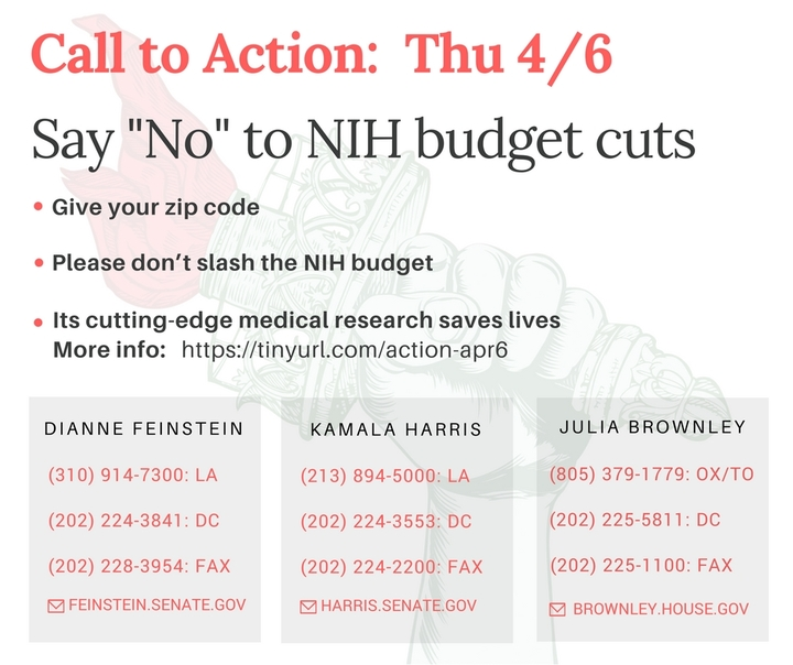 Say No to NIH Budget Cuts - our lives depend on it!