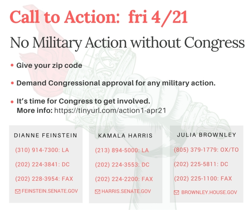 Tell Trump no military action without Congress!