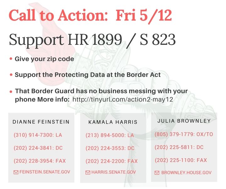 Support the Protecting Data at the Border Act. Hands off my cellphone!