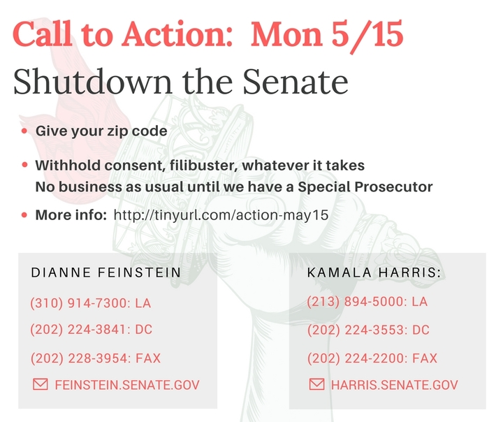 SHUT DOWN THE SENATE until we have a specialprosecutor!