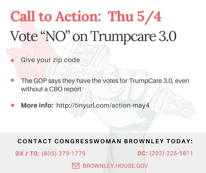 "Vote ""NO"" on Trumpcare 3.0. The Worst. Sequel.Ever."