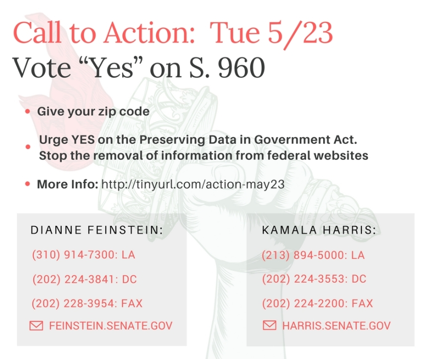 Urge YES on the Preserving Data in Government Act (S.960)