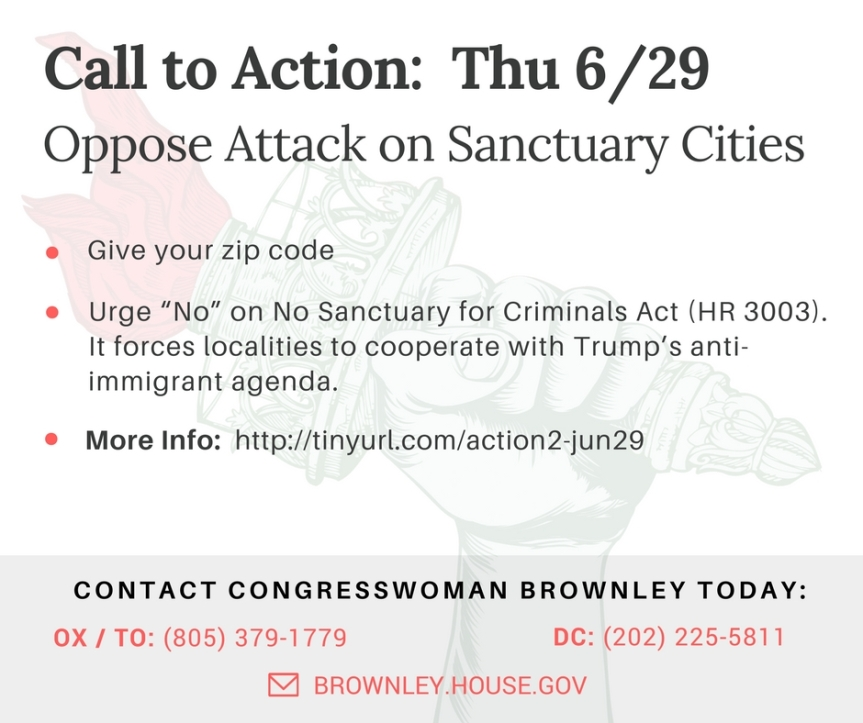 The sanctuary city attack that we've all been dreading is coming up for a vote in the House THIS Thursday. CallASAP!