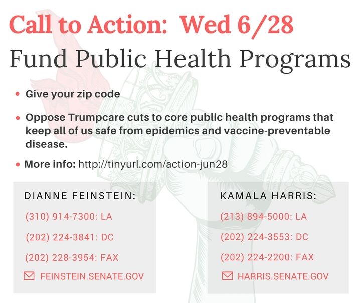 Oppose Cuts to Core Public Health Programs – We're Not in the Mood for anEpidemic!