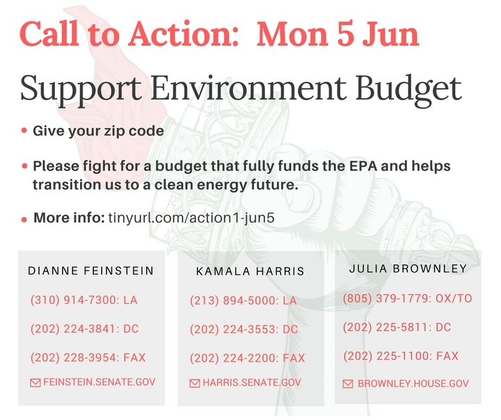 Support the Environment in theBudget!
