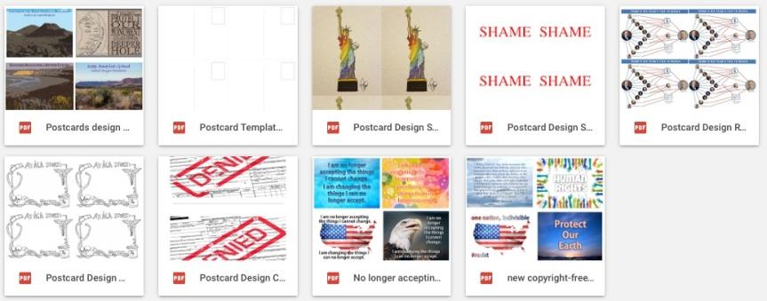 resistance postcards