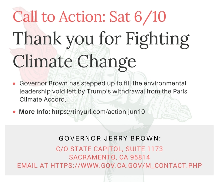 Thank You, Governor Brown!