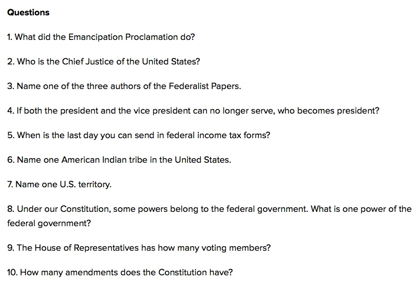 civics question
