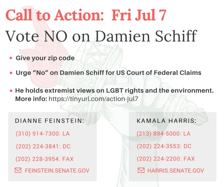 Block Far-right Extremist Damien Schiff from the US Court of Federal Claims