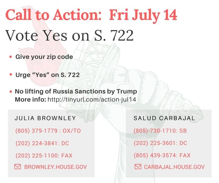 Demand that Congress oversees Russia Sanctions, notTrump!