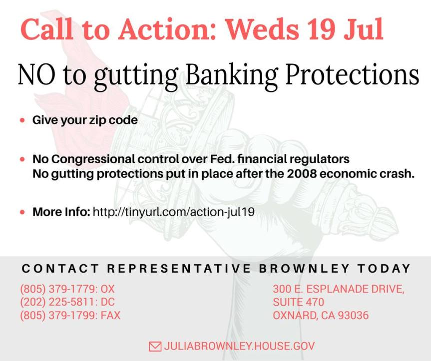 """Congress wants to party like it's 2008 — say """"no thanks"""" to weakening BankingProtections!"""