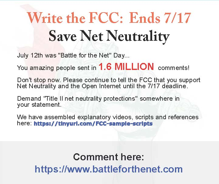 The FCC is corporatizing the internet. Light it up!