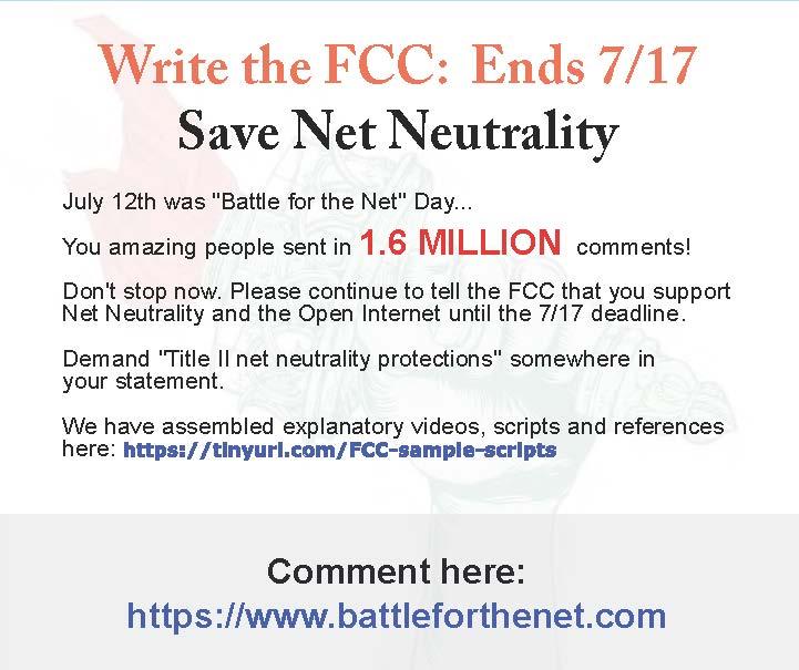 The FCC is corporatizing the internet. Light itup!