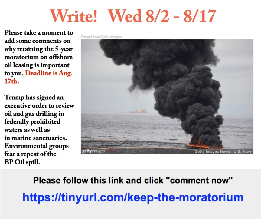 Write to show your outrage! We don't want another oil spill!