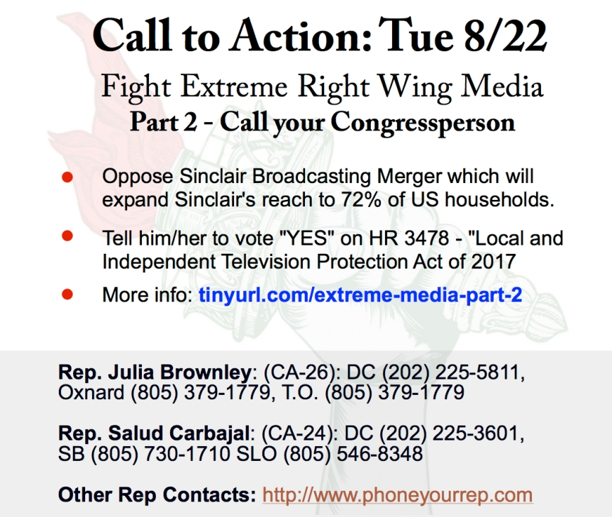 Tues 8/22 – Fight Extreme Right Wing Media – Part 2