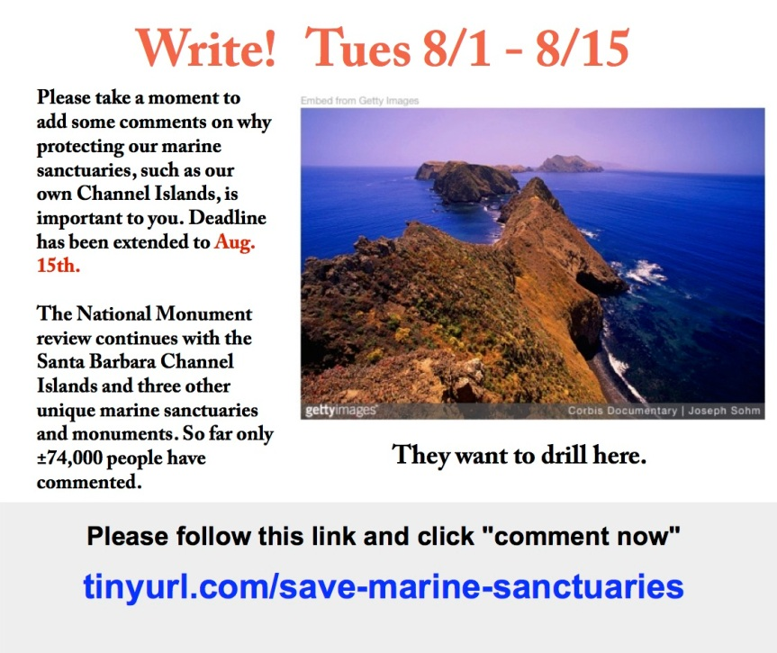 Protect our Marine Sanctuaries – We don't want our precious islands ruined!