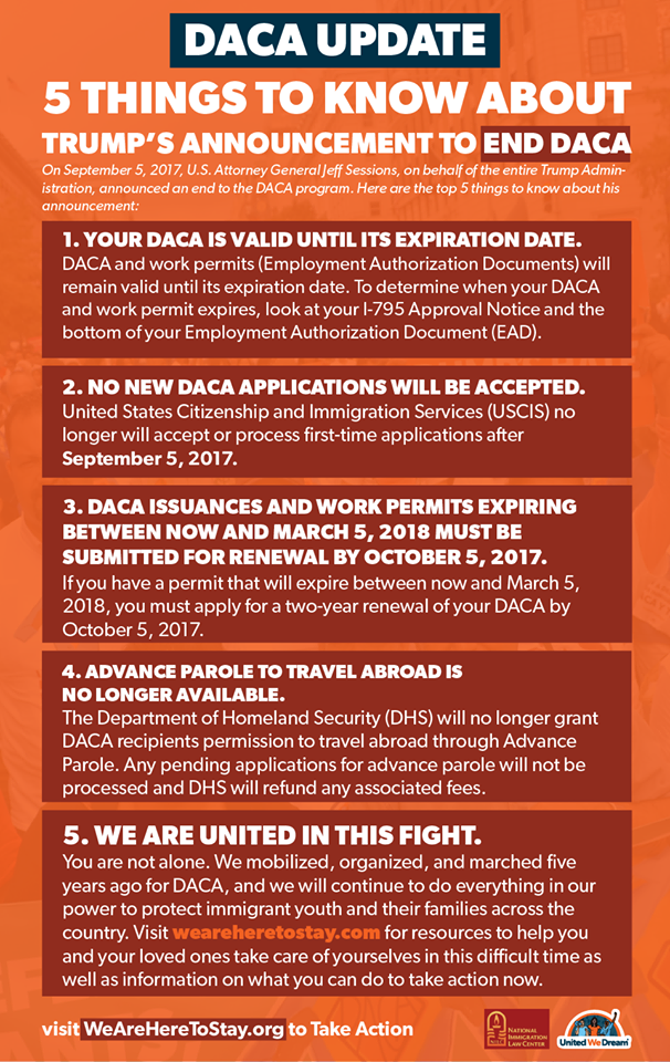DACA resources – Updated 9/11