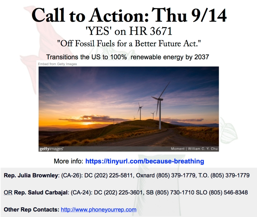 "Support ""Off Fossil Fuels for a Better Future"" Act – Because…breathing."