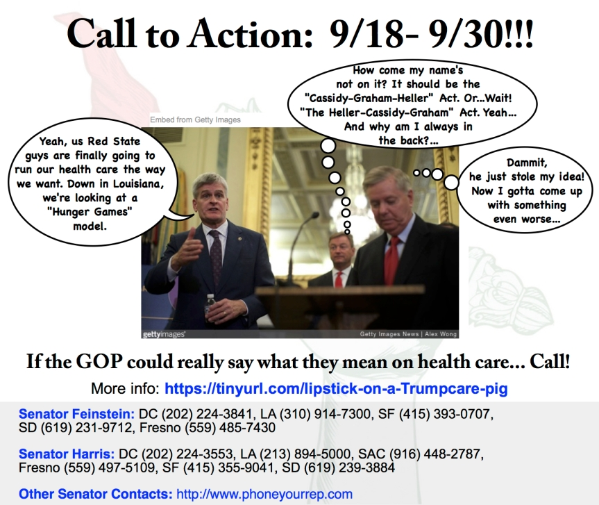 Yeah, we weren't kidding about this horrible healthcare proposal. Call. every. day.9/18