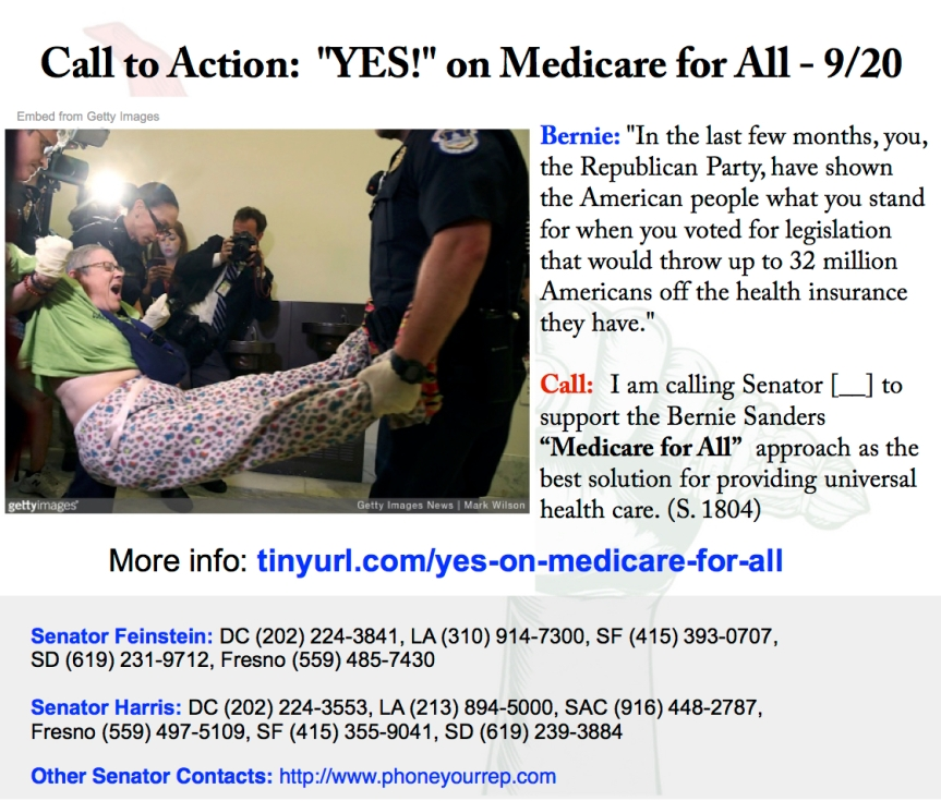 "Vote YES on ""Medicare for All"""