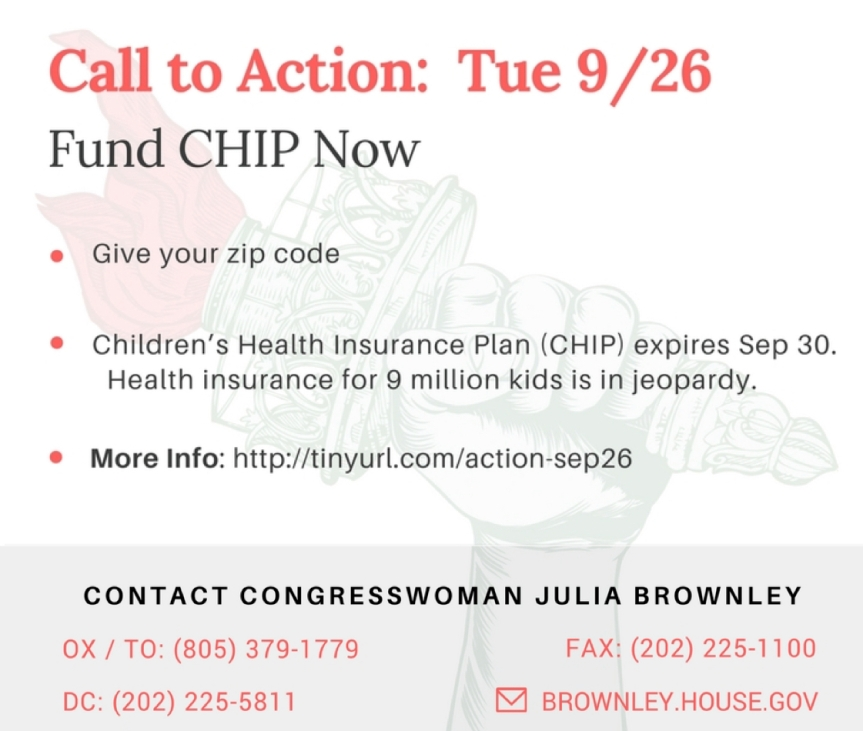 5,147,878 kids in CA without health insurance?!? Extend CHIP!