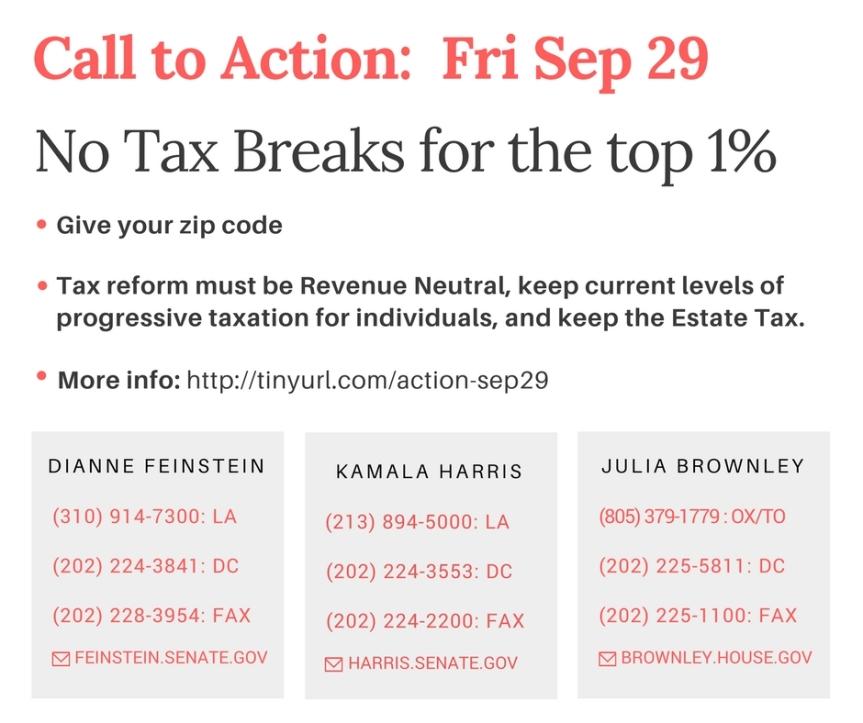 Non-negotiable Demands for TaxReform.