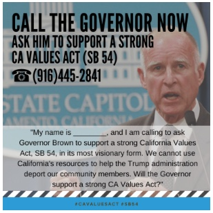 If you can't be in Sacramento standing beside us, flood their phone lines!