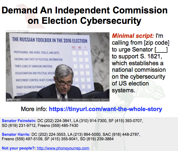 Demand an Independent Commission on Election Cybersecurity