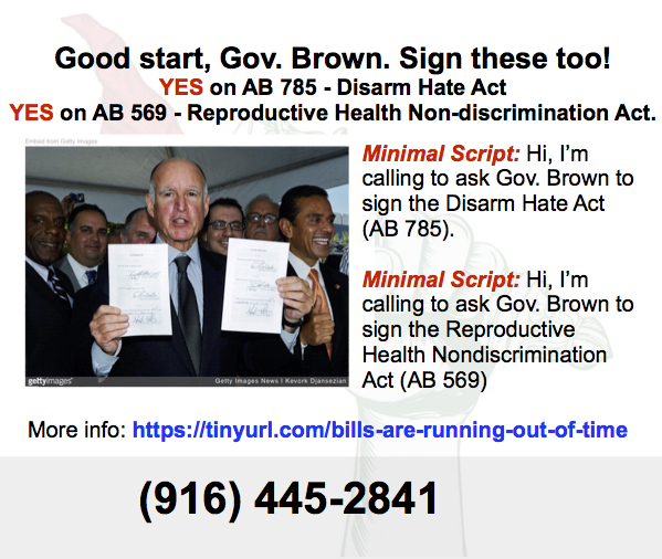 Hey, Governor Brown, don't forget to sign these!
