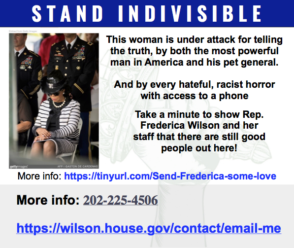Show some love, California! Stand Indivisible. #StandwithFrederica.