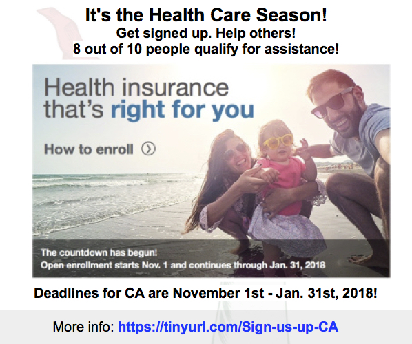 The Trump Administration has cut advertising to get the word out on Healthcare enrollment – we ALL need to spread the word!
