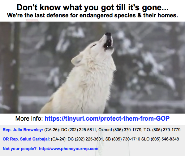 Protect Endangered Species from the GOP
