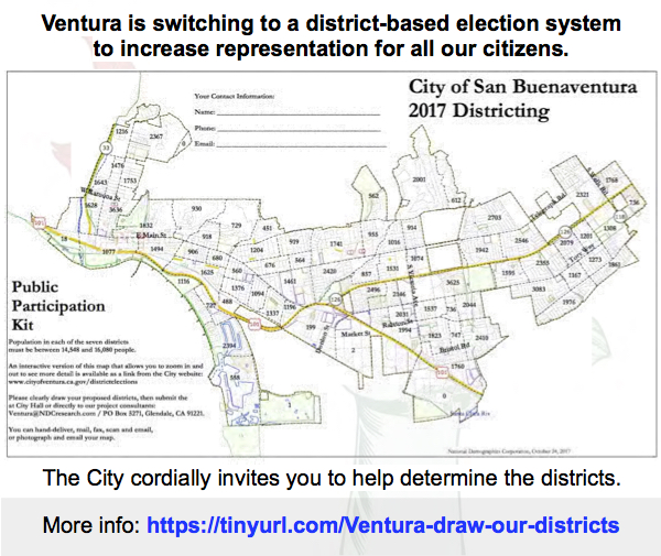 Venturans – Join in! Help determine new districts to bring representation to all.