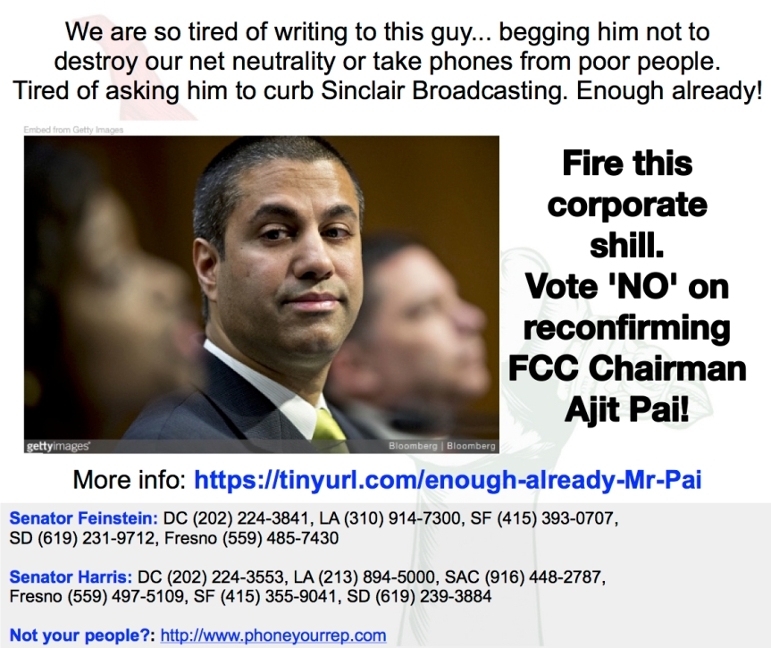 Fire FCC Chairman Ajit Pai