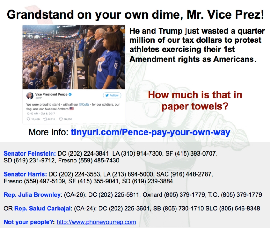How much of our money did you just waste, Mr. Vice President?