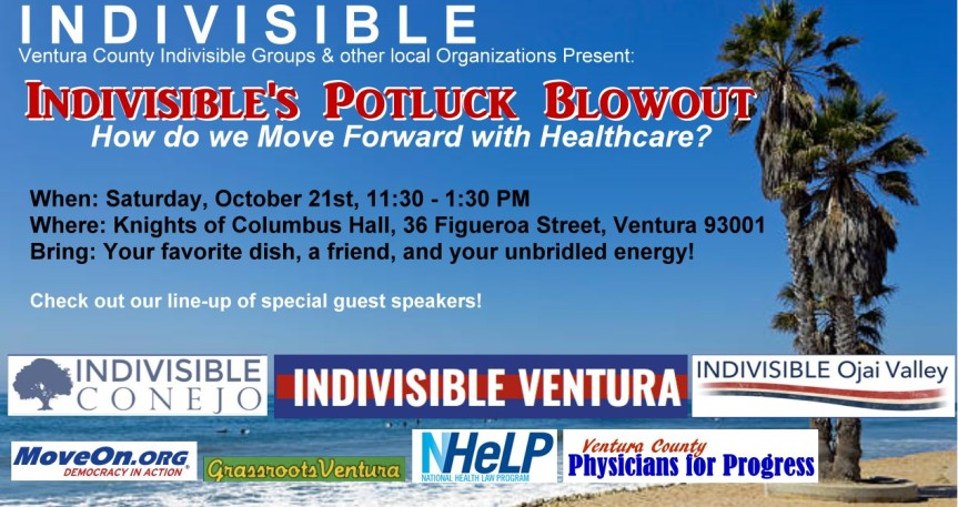 Indivisible's Potluck Blowout – How do we Move Forward with Healthcare?