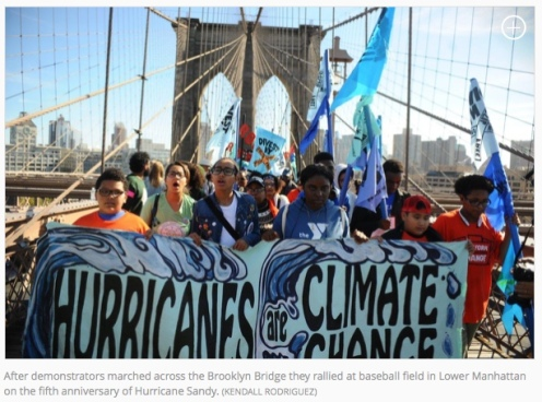 demonstrators Sandy