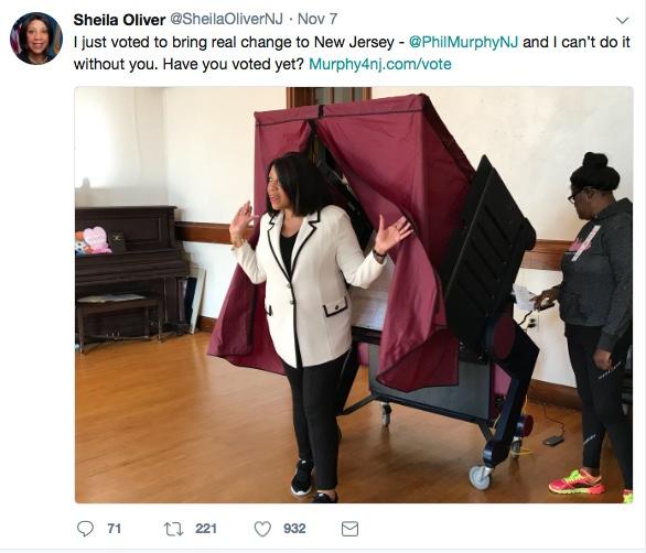 Sheila Oliver voting