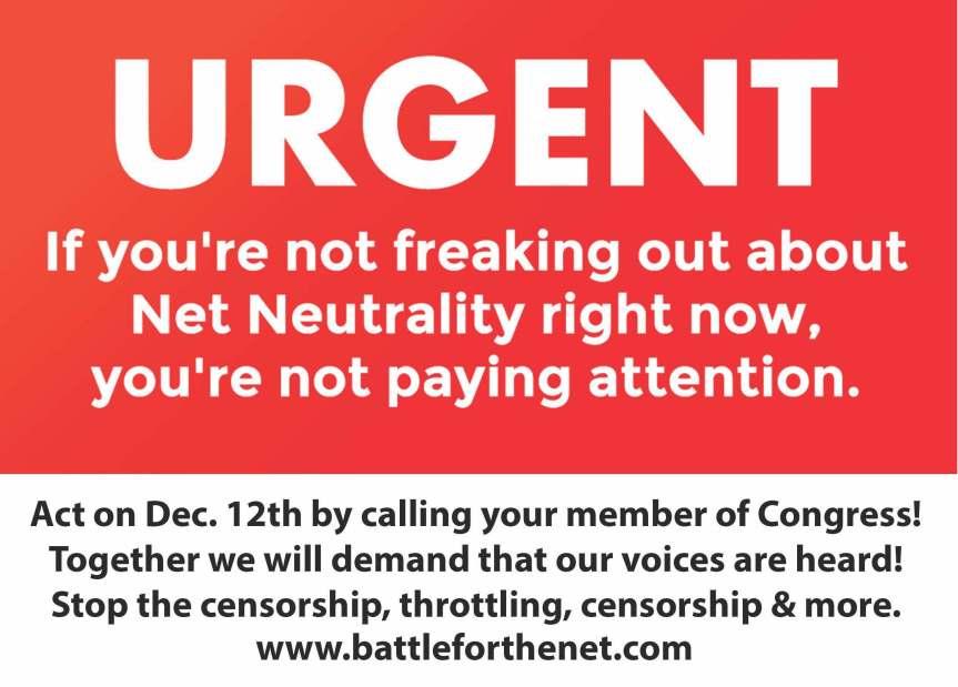 Tuesday, Dec. 12th – Break theInternet!