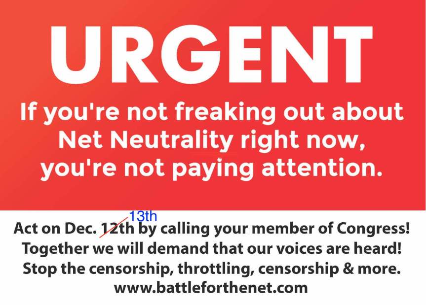 """FCC Actions """"Break the Internet"""" – Rinse andRepeat."""