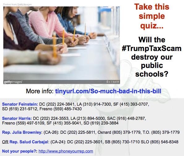 Pop Quiz – Will the #TrumpTaxScam destroy the American Public SchoolSystem?