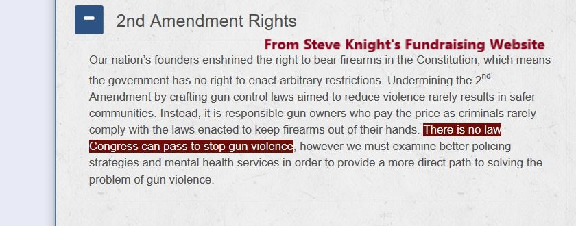 March events to defeat NRA A+ Rated Steve Knight – are you in?